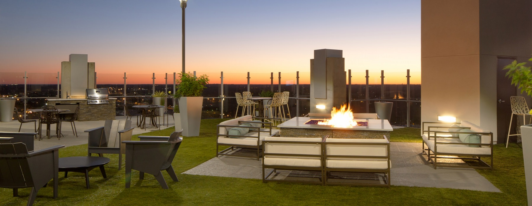 Open, Roof-Top Deck with City View